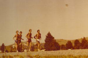 1984 przed Olimpiadą w Los Angeles - przygotowania w Font Romeu - Antoni Niemczak, Krzysztof Wesołowski z przodu i Wojtek Ratkowski, Jurek Skarzyński - WB2 + intuicyjne poszukiwanie słońca